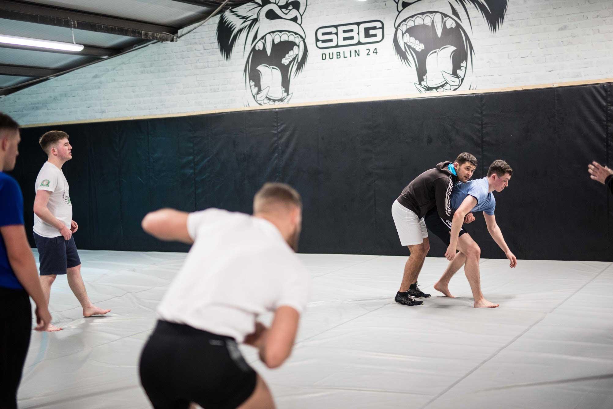Conor McGregor training wrestling at SBG Dublin24