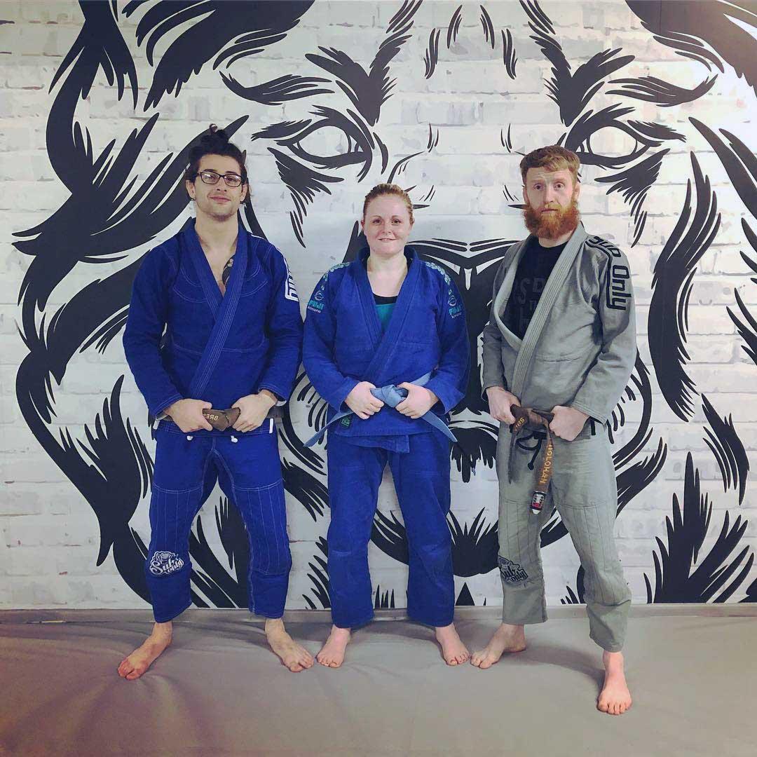 Liv receiving her BJJ blue belt in SBG Dublin24